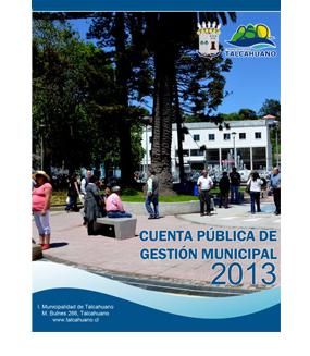 Cuenta Pública de Gestión Municipal 2013