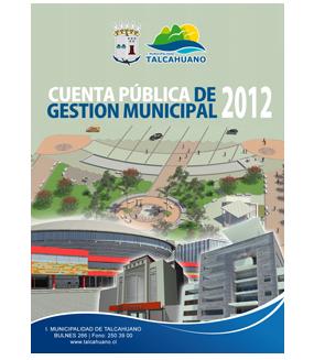 Cuenta Pública de Gestión Municipal 2012
