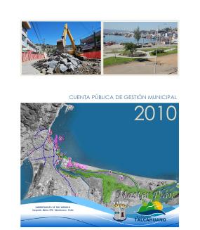 Cuenta Pública de Gestión Municipal 2010