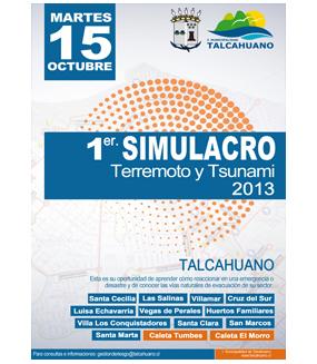 Informativo Primer Simulacro Terremoto y Tsunami Talcahuano (Las Salinas, Caleta Tumbes, Caleta El Morro