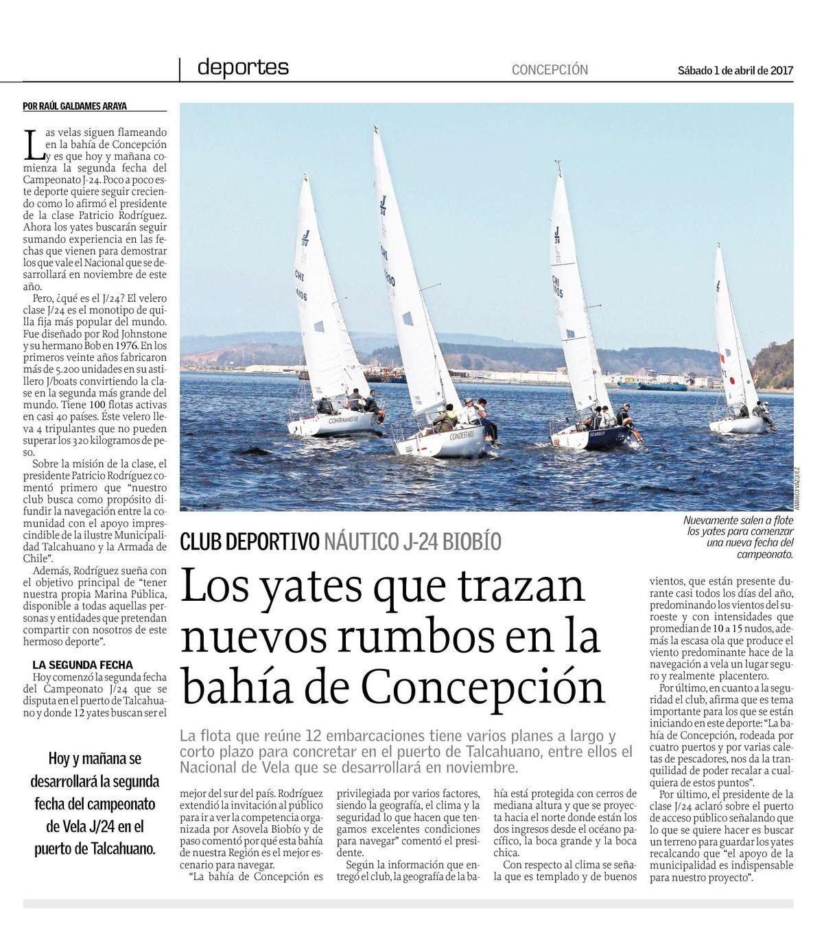 Los yates que trazan nuevos rumbos a la bahía de Concepción