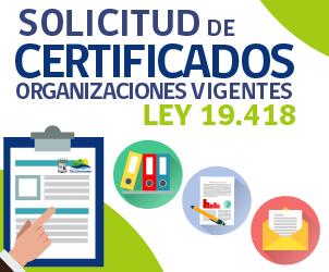 Certificados Organizaciones Vigentes