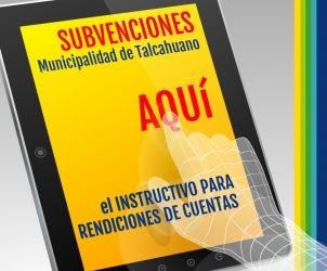 Instrucctivo Rendiciones de Cuentas Subvenciones Municipales
